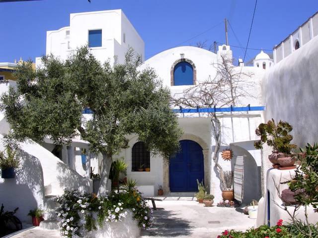 Białe domki na rejsie w Grecji