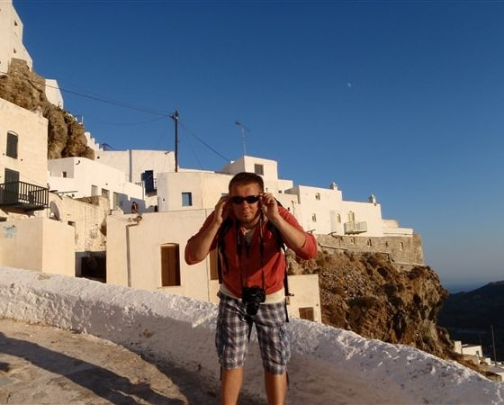 Uczestnik rejsu po Grecji