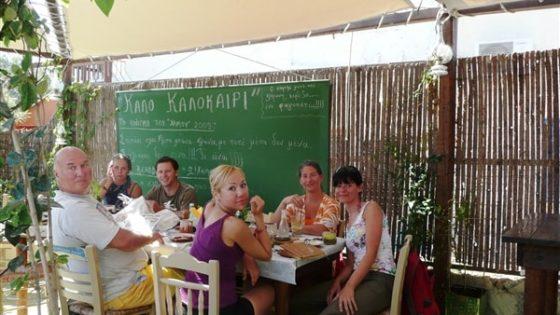 Obiad w greckiej tawernie
