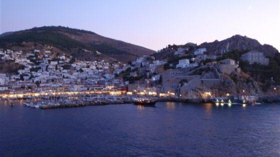 Widok na miasto z jachtu