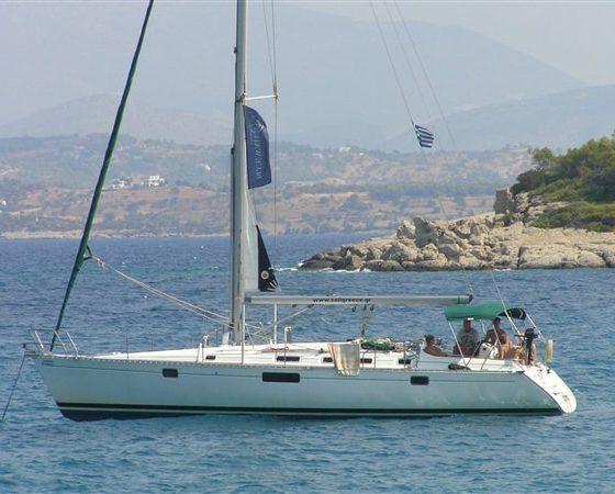 Jacht Blue Water Club podczas rejsu w Grecji