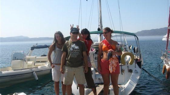 Uczestnicy rejsu morskiego po Grecji