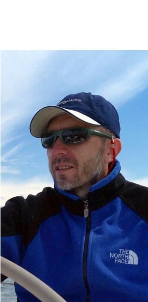 Adam Piwowarczyk skipper na resach morskich