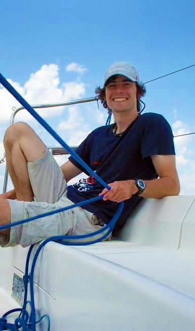 Michał - skipper na rejsach morskich