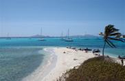 Widok na jachty podczas rejsu na Karaibach